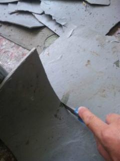剥がした防水塗膜の処理